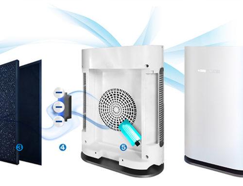 AIR4 Effektiver leiser Luftfilter / Luftreiniger für Zuhause